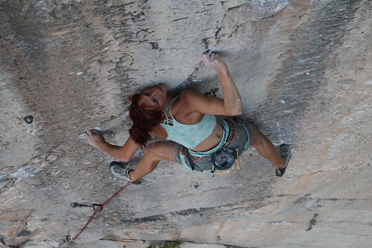 The first 8b+ from a woman in Greece!